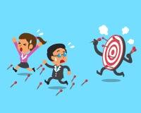 Affärslag och mål Arkivfoton