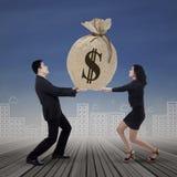 Affärslaget får många inkomst Arkivbild