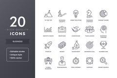 Affärslinje symboler stock illustrationer