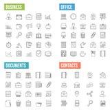 Affärslinje symboler royaltyfri illustrationer