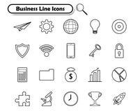 Affärslinje symboler på vit bakgrund Arkivfoto