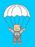 affärsmän hoppa fallskärm Fotografering för Bildbyråer