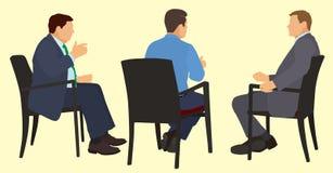Affärsmän i ett möte Arkivbilder