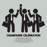 Affärsmän med Champagne Celebration Fotografering för Bildbyråer