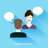 Affärsmän och affärskvinna Having Informal Meeting samkvämne Arkivfoton