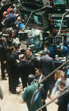 Affärsmän på det New York materielutbytet Arkivfoton