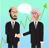 Affärsmän som gör att prata för avtal Arkivfoton