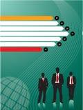 Affärsmän som gör investeringar vektor illustrationer