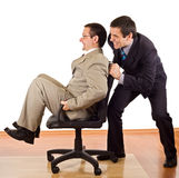 affärsmän som kopplar av två Arkivfoto