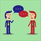 affärsmän som talar två Royaltyfri Bild