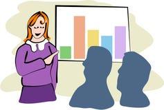 affärsmöte vektor illustrationer