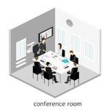 Affärsmöte i ett möte för kontorsaffärspresentation Royaltyfria Bilder