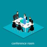 Affärsmöte i ett möte för kontorsaffärspresentation i ett kontor runt om en tabell stock illustrationer