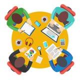 Affärsmöte i regeringsställning, teamwork Arkivfoton