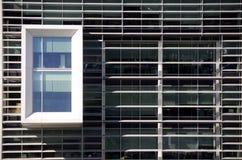 Affärsmöte, modern kontorsbyggnadfasad, texturer arkivbild