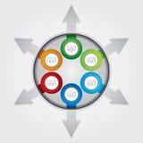 Affärsmall-, graf- och flödesdiagramillustration Royaltyfria Bilder