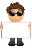 Affärsman - blankt tecken 14 Arkivbild