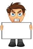Affärsman - blankt tecken 2 Arkivbild
