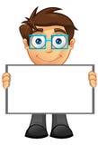 Affärsman - blankt tecken 4 Arkivfoto