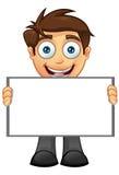 Affärsman - blankt tecken 6 Fotografering för Bildbyråer