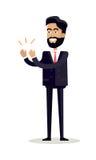 Affärsman Clapping Hands med den lyckliga framsidan Royaltyfria Bilder
