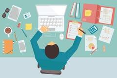 Affärsman för funktionsduglig tabell Arkivfoton