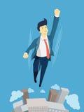 Affärsman för toppen hjälte stock illustrationer
