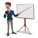 Affärsman för vektor 3d i en presentation Royaltyfri Foto