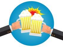 Affärsman Hangover med öl på fredagskväll Royaltyfri Foto