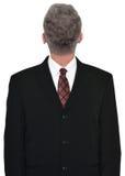 Affärsman Head Backwards, affär som isoleras arkivbilder