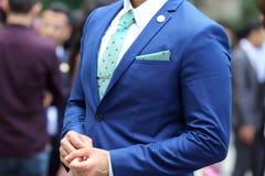 Affärsman i blåttdräkt Royaltyfri Fotografi