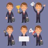 Affärsman i del 1 för dräkthållobjekt stock illustrationer