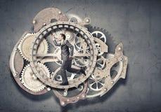 Affärsman i hjul Arkivfoto
