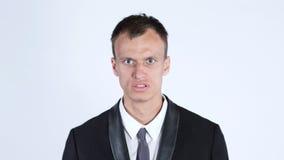 Affärsman i ilska som är ilsken Arkivfoton