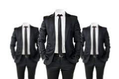 Affärsman i svart Royaltyfri Bild