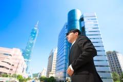 Affärsman i taipei fotografering för bildbyråer