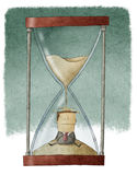 Affärsman i timglas vektor illustrationer