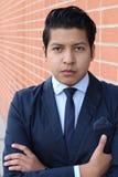 Affärsman med den neutrala uttryckscloseupen Royaltyfri Foto