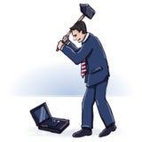 Affärsman med en bulta Arkivfoton