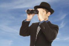Affärsman med en vision royaltyfria bilder