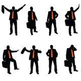 Affärsman med ett orange band Royaltyfri Bild