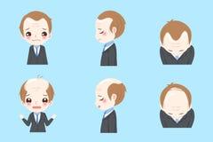 Affärsman med flintskallighet vektor illustrationer