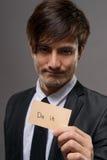Affärsman med kortet fotografering för bildbyråer