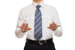 Affärsman med olika gesthänder Arkivfoto