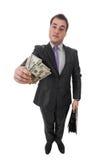 Affärsman med pengar Arkivbilder