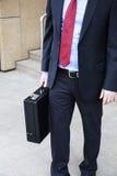 Affärsman med portföljen royaltyfri foto