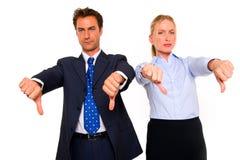 Affärsman och affärskvinna Arkivbild