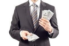 Affärsman och dollar Royaltyfri Fotografi