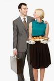 Affärsman och fru royaltyfria foton