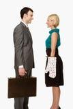 Affärsman och fru arkivbilder